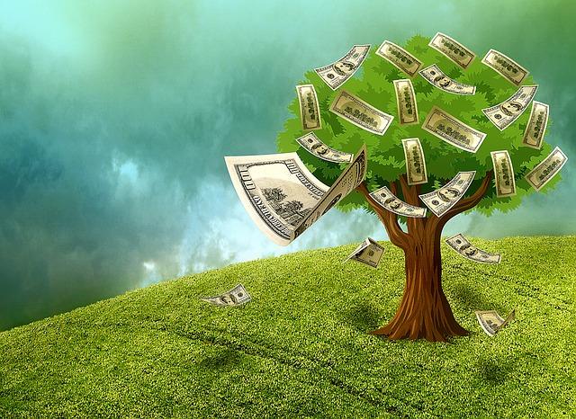 peníze na stromě